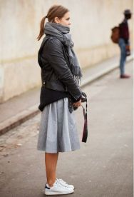 grey-midi-skirt-black-leather-moto-jacket-adidas-stan-smith-sneakers-photographer-sweaters-and-skirts-via-lacooletchic.tumblr.com_